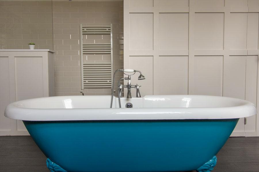 Retrobadkar i blått