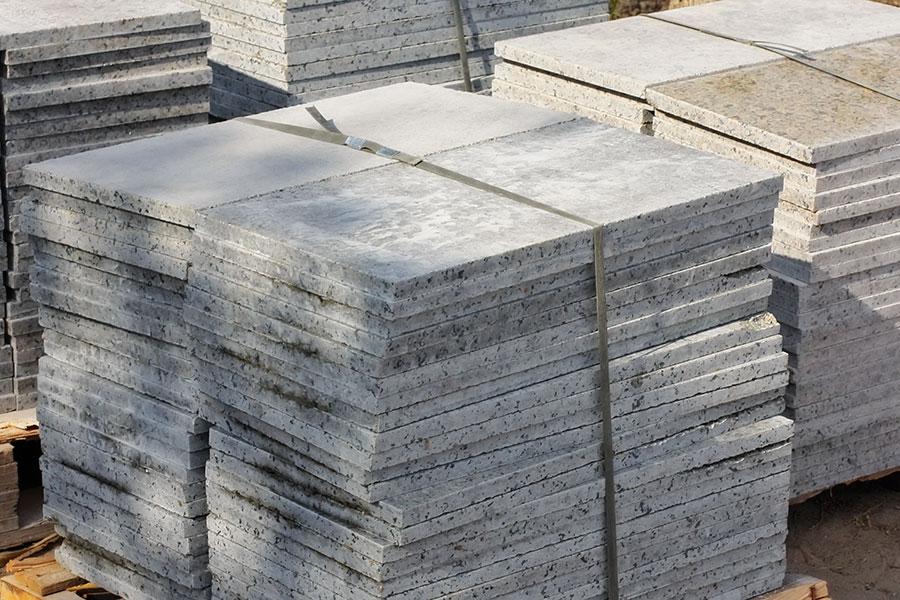 Granitgolv och plattor för läggning