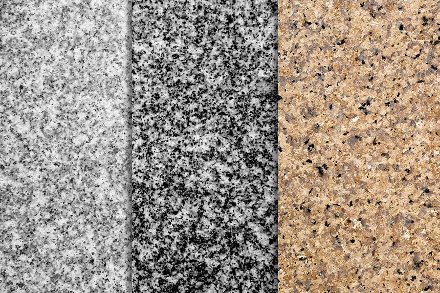Granitgolv i olika nyanser