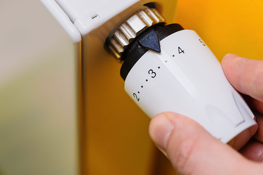 Effektiv termostat på radiator
