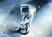 Vid slagborrning hjälper maskinen dig att lägga an tryck genom att slå på borret