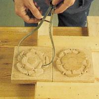 Krumcirkeln vars böjda skänklar mäter runt olika delar