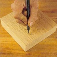 rita resterande delarna av mönstret på frihand