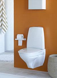 Vitt porslin för badrum