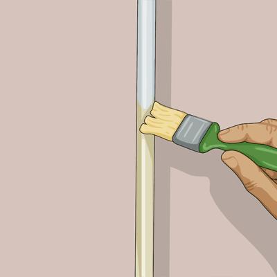 Du kan använda en vanlig pensel när du stryker rören
