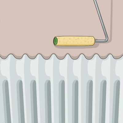 Använda en elementroller om du ska måla väggen bakom elementet