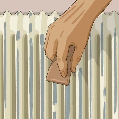 Bättra med färg på ytor som du skrapat och slipat