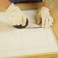 Läggning av blyremsor till blyinfattningen
