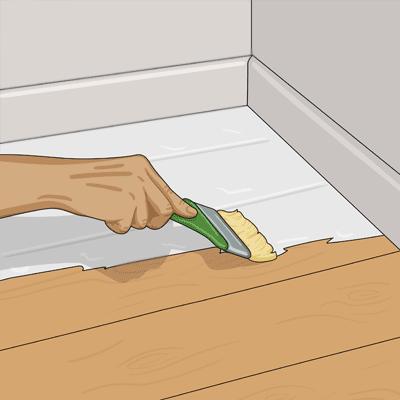 När du målar med pensel börjar du i rummets innersta hörn