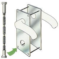 Dörrförstärkare gör det mycket svårt att bryta upp dörren