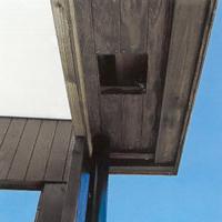 Uttag för infälld ytterbelysning i takfoten