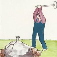 Kila sönder stenen