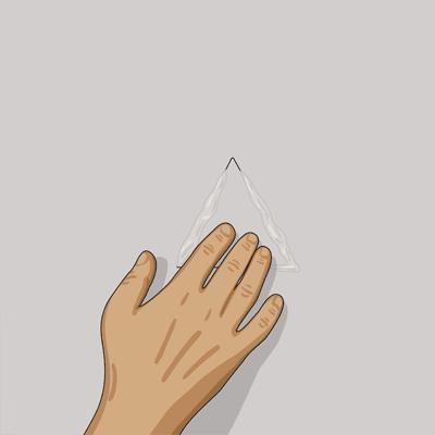 Lägg spackel eller gipsbruk på passbitens kanter
