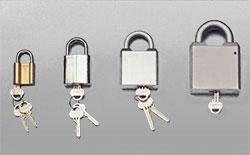 Hänglås och andra kraftiga lås som kan förhindra tjuven