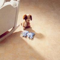 Plastgolv till småbarnens lek och sovrum