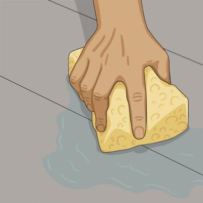 Rengör först ytan med målartvätt