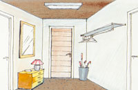 Färgsättning av rum med högt i tak