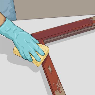 Tvätta fönstret med målartvätt