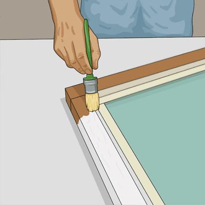 Använd en rund pensel när du målar