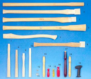 Olika typer av verktygsskaft