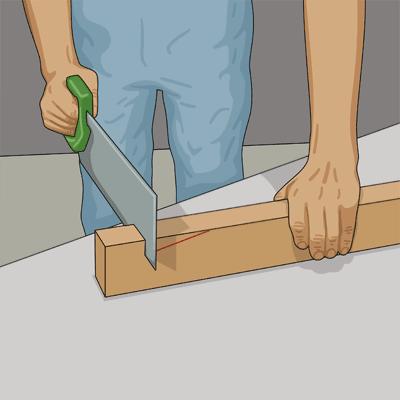 För att underlätta vid fogningen bör du först såga ut slitsen i regeln