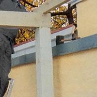 Skråspika från ovansidan för bättre stadga i konstruktionen