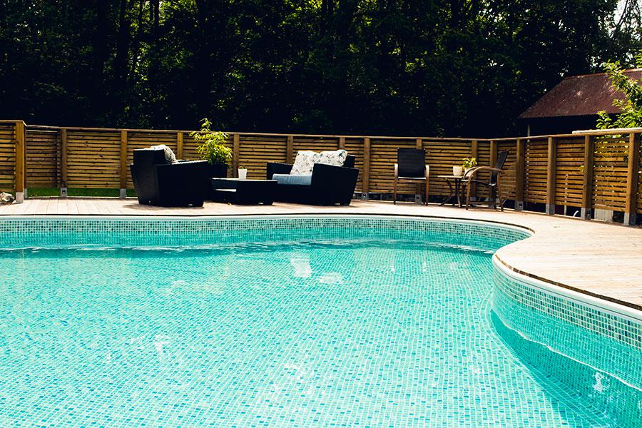 Liner som ligger i pool