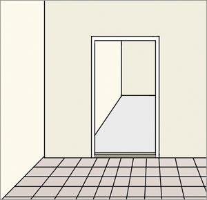 fogning silikonfog dörrtröskel och klinkerplattor