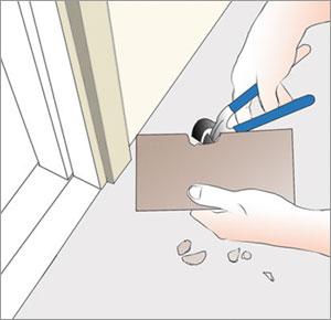 klipper urtag för dörrfoder