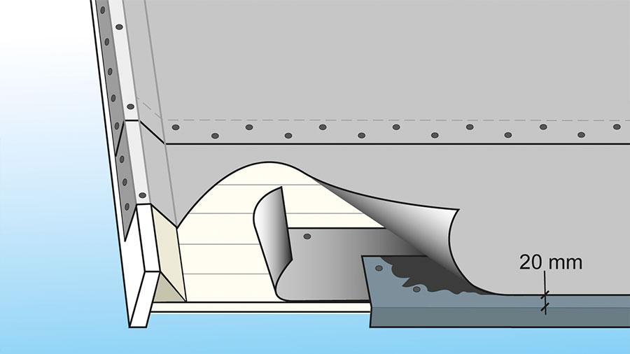 fotplåt vid takfot och gavlar