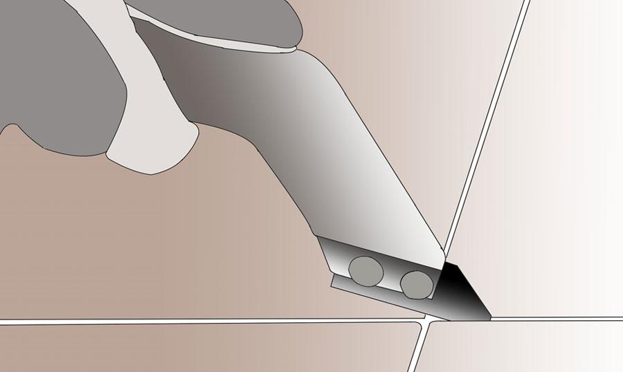 Byt ut en skadad klinker eller kakelplatta. bild 1