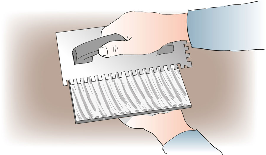 Byt ut en skadad klinker eller kakelplatta. bild 4