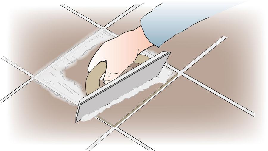 Byt ut en skadad klinker eller kakelplatta. bild 6