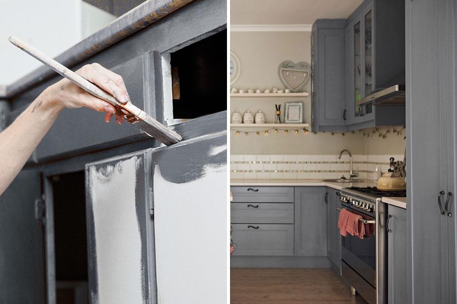 renoverar kök billigt målar köksluckor