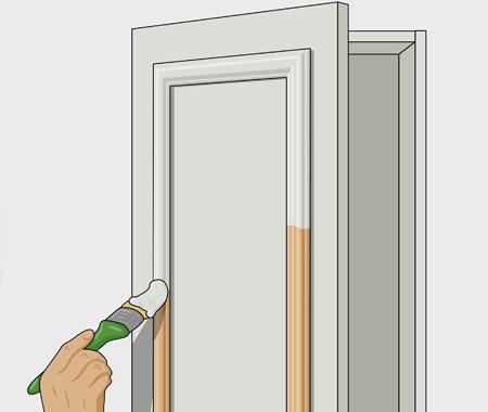 Sätta dekorlist och måla köksluckor. bild 7
