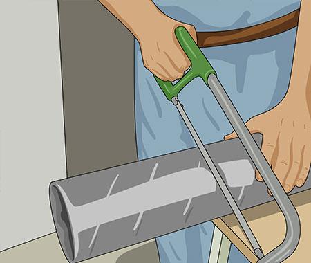 Kapa ventilationsröret med en bågfil