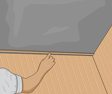 Klä in taket med samma slags panel som väggarna