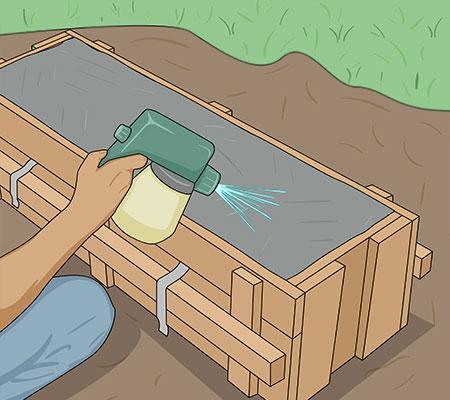 Spraya med membranhärdare om du inte kan eftervattna