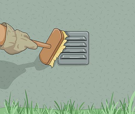 Tvätta ventiler med sodalösning