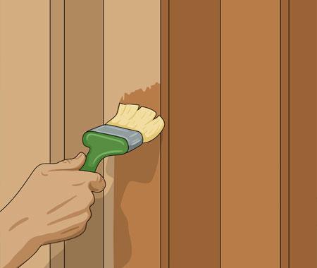 Grundmåla noggrant alla rena träytor på träfasaden