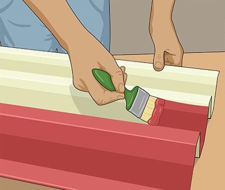 När färgen torkat kan du grundmåla hela ytan