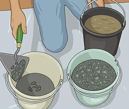 Du kan blanda kisel eller natursten för ett mer rustikt utseende