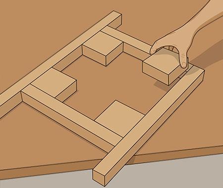Korsformade betongplattor