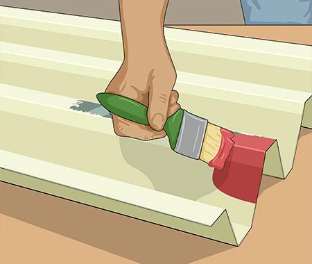 Måla alla rena metallytor med särskild grundfärg