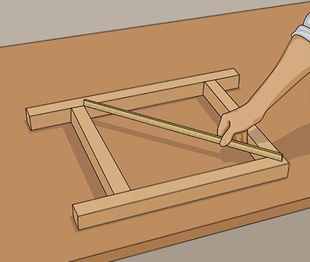 Lägger ut formbitarna och mäter diagonalen