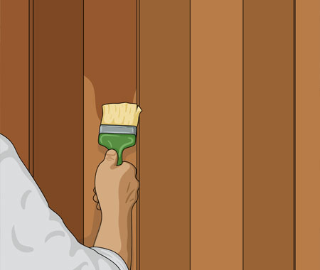 På stående panel målar du i hela husets höjd