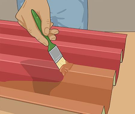 Täckmåla 1-2 ggr med lämplig färgtyp