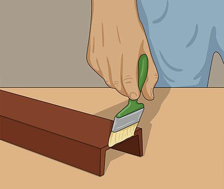 När färgen torkat ger du en strykning med mellanfärg innan du täckmåla 1-2 ggr