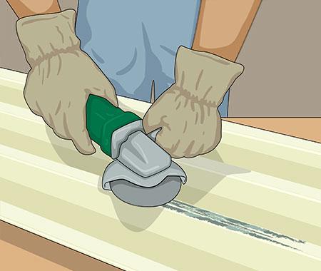 Ta bort all rost med skrapan eller med sliprondell och maskin