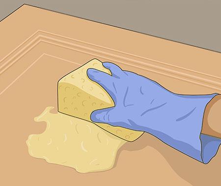 En lackerad yta ska du först tvätta med målartvätt